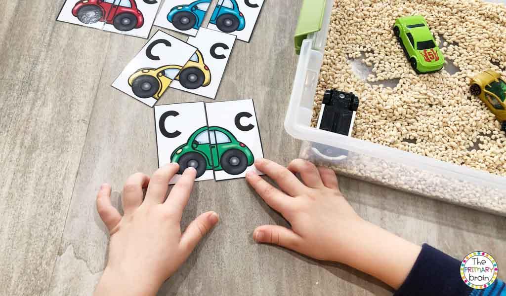 Cars Sensory Bin