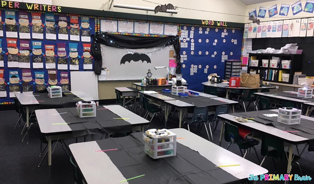 Classroom Decor Black ~ My bat cave classroom transformation the primary brain