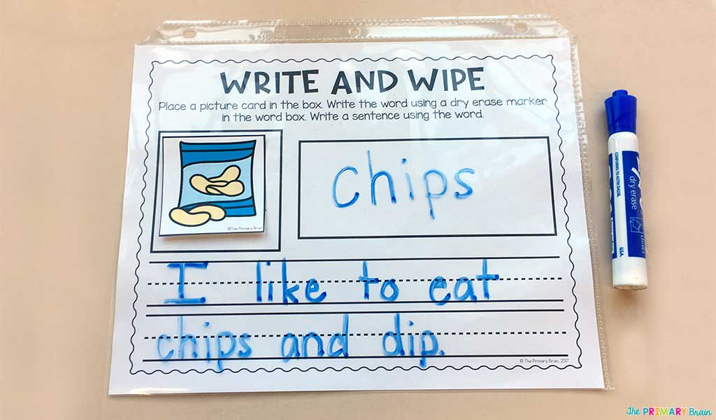 Blends and Digraphs Workmat