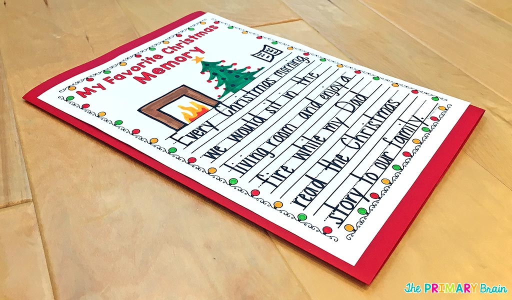 Christmas Lapbook Back Cover