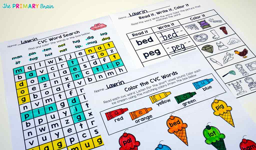 Wordsearch and Color the Words