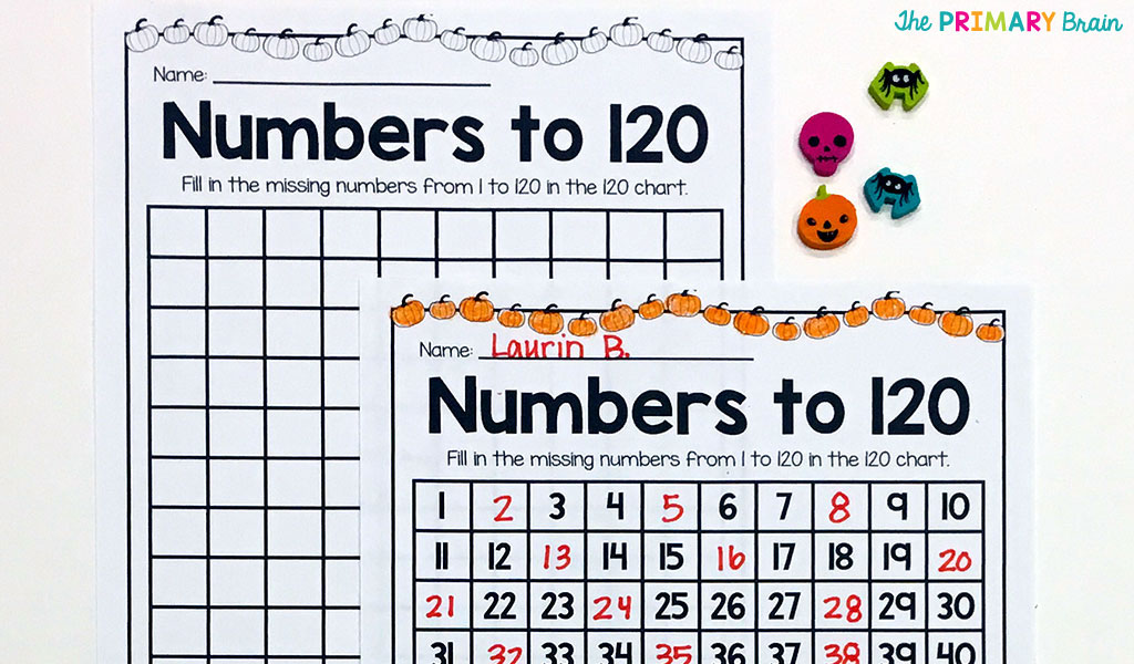 Halloween 120 Chart Fill In