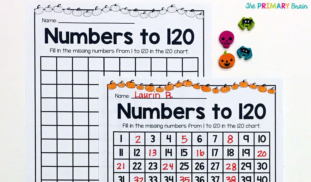 Halloween 120 Chart Fill In