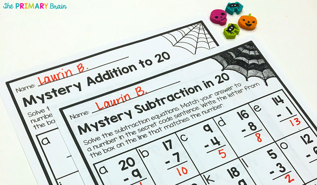 Mystery Worksheet