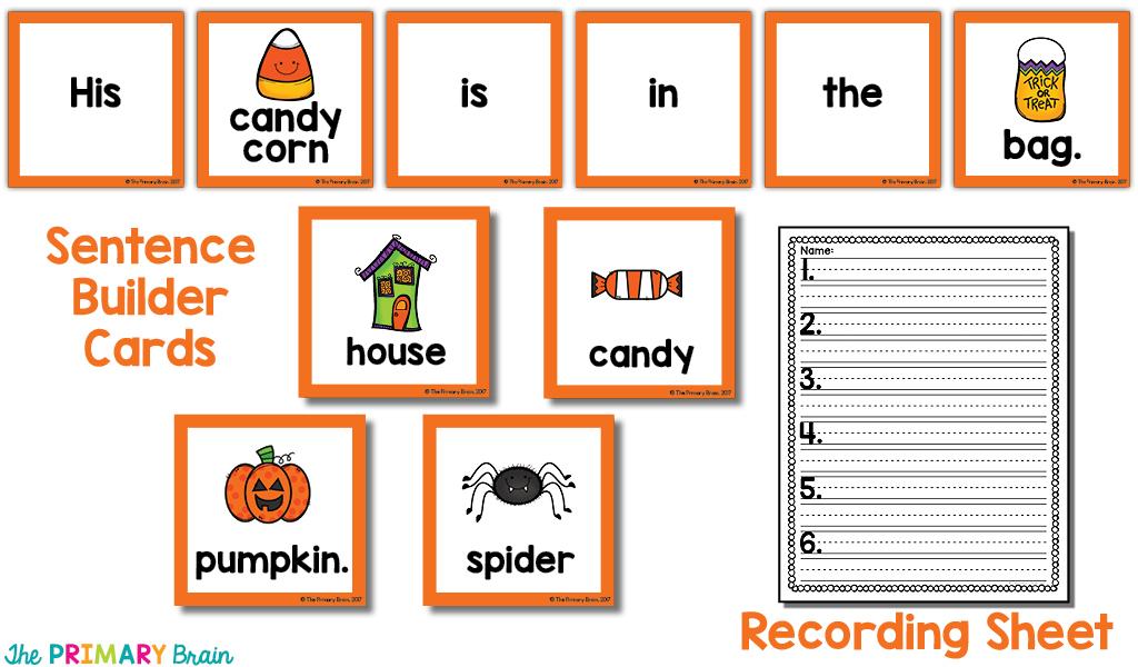 Sentence cards sample