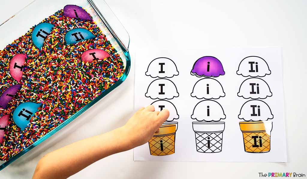 Ice Cream Letter Sort