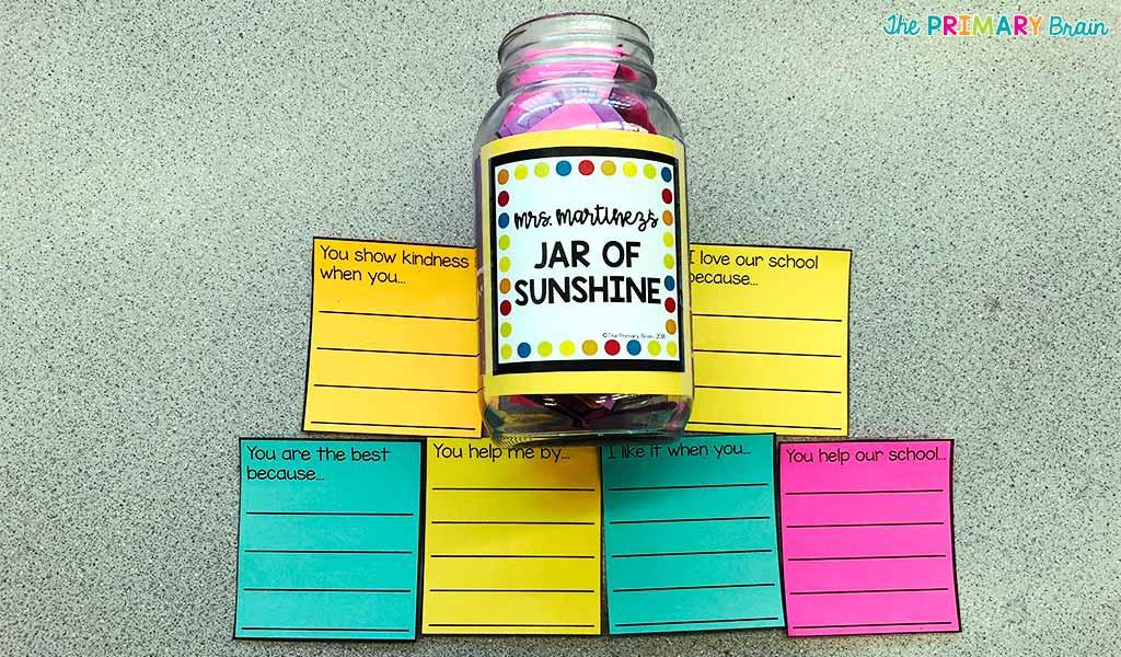 Jar of Sunshine with Tags