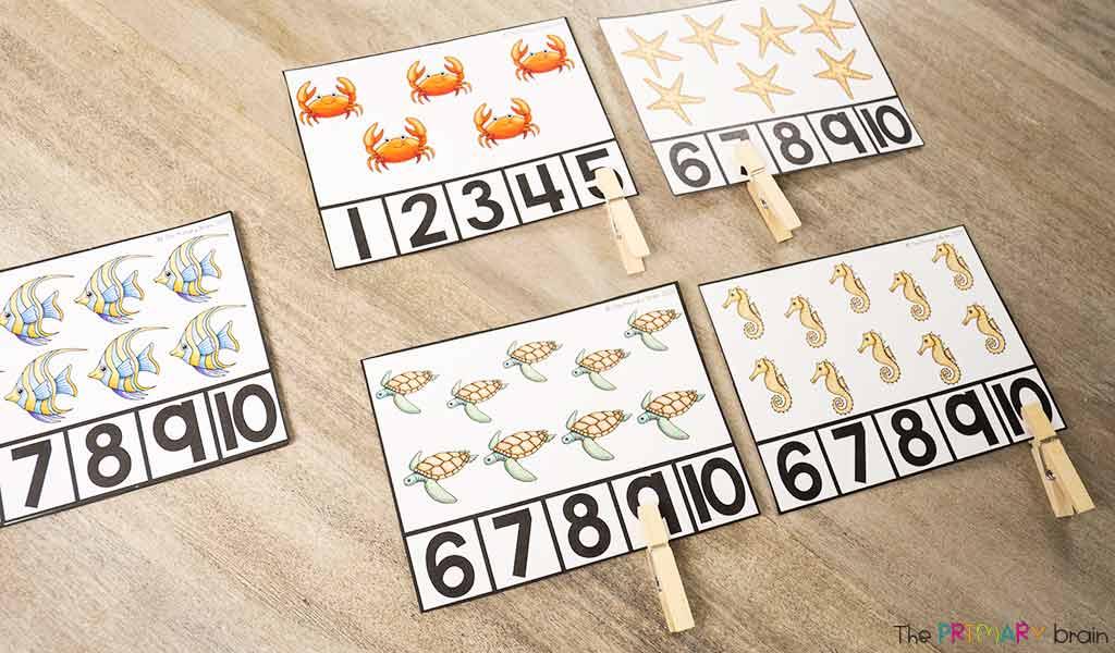Math Clip Cards