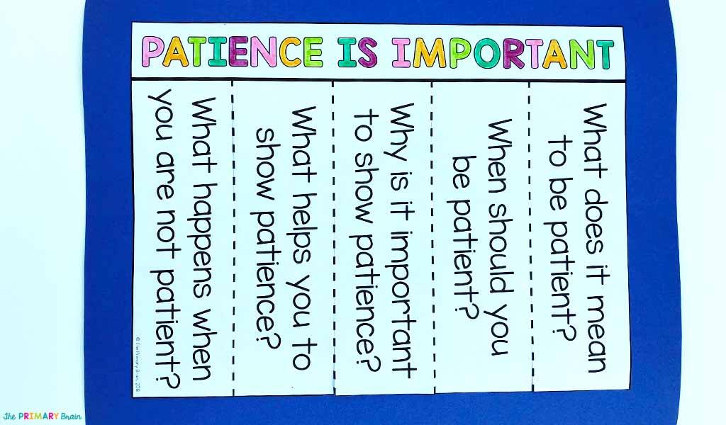 Patience Lapbook Flap Book