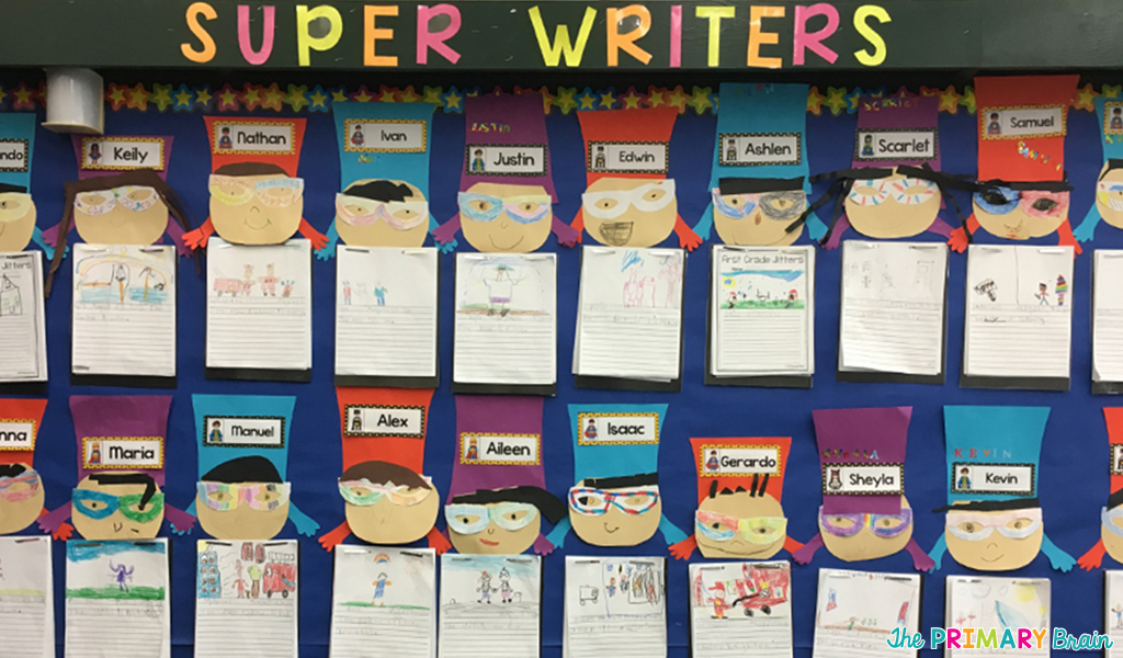 Superhero Writing Wall