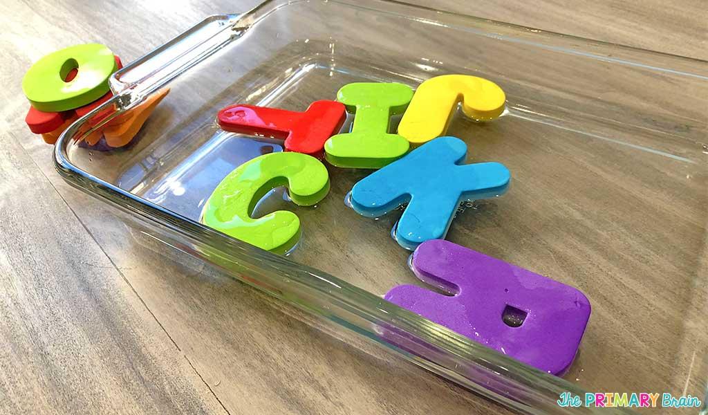 Foam Letters Water Sensory Play