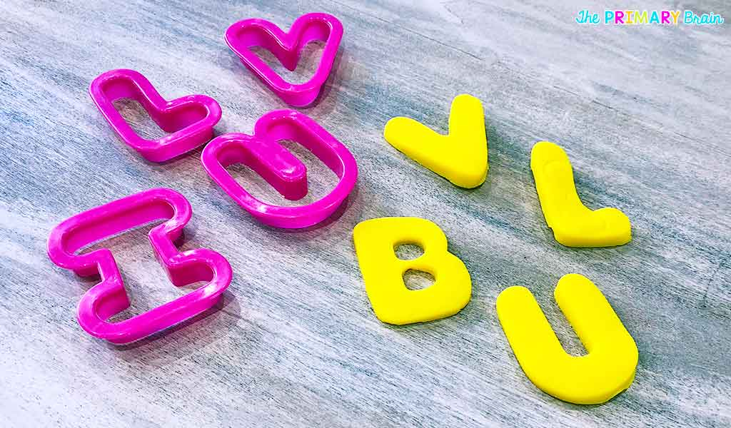 Cookie Cutter with Letters Cut Out