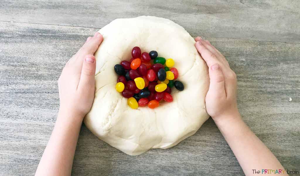 Jelly Bean Sensory Bin