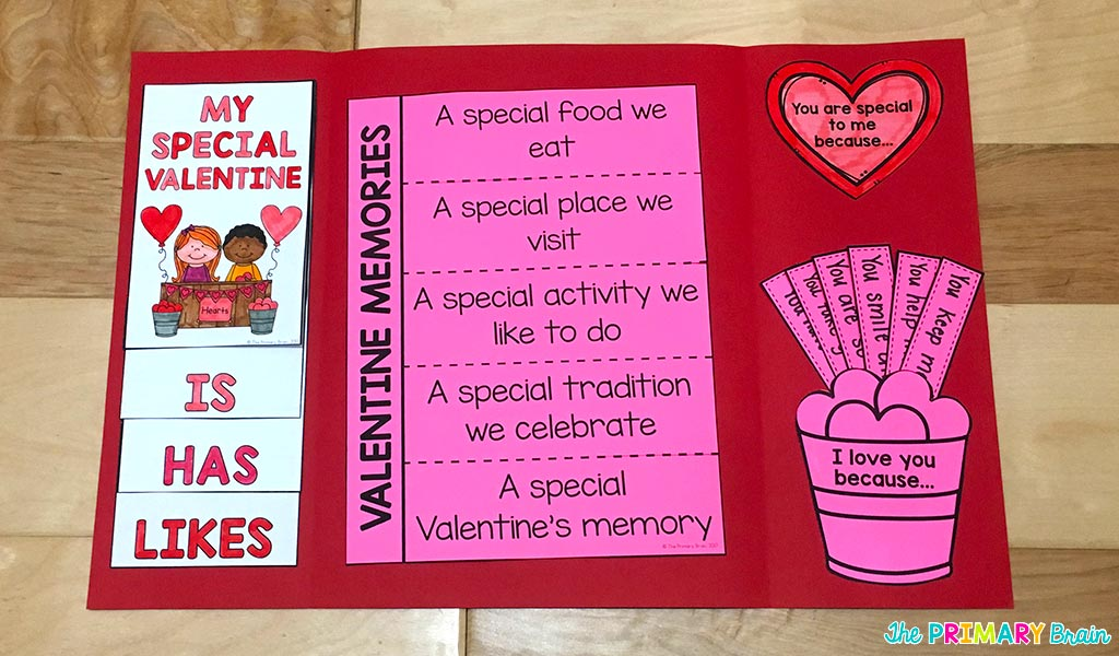 Valentine's Lapbook Inside