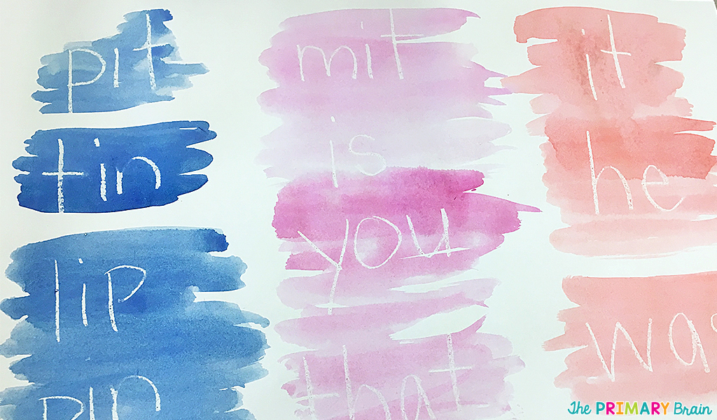 Magic Watercolor Words